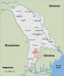 EVS v Moldavsku - Mapa Gagauzska - Mladiinfo ČR