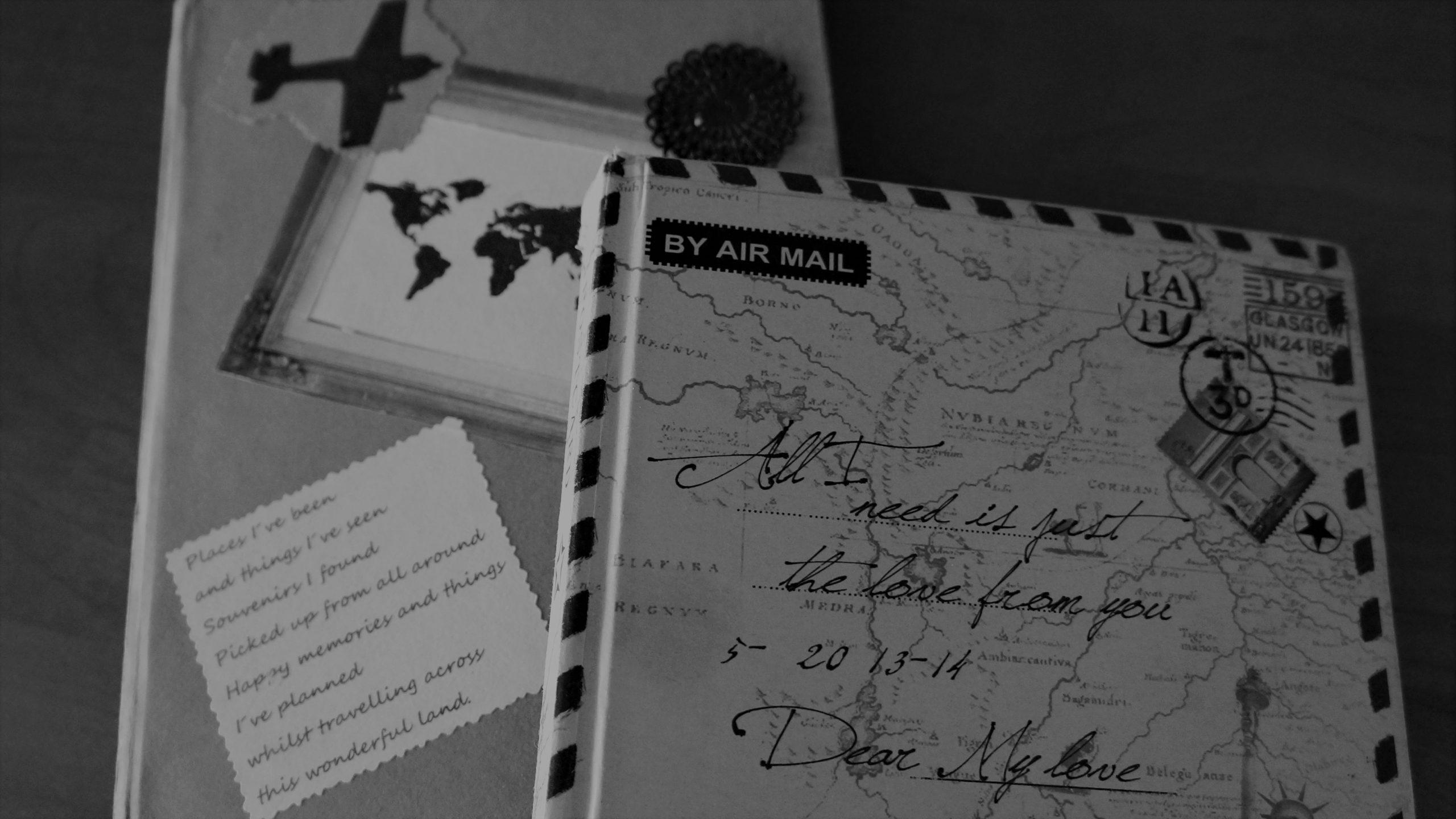 Cestovatelský deník s letadlem