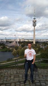 Honza v Olympijském parku na severu Mnichova